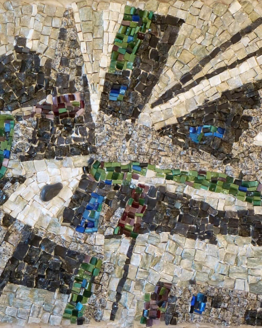 jorj Morin sculpture mosaïque