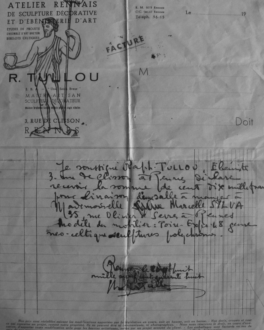 Tullou Facture 1948 Web Greyscale